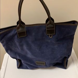 Dooney & Bourke blue suede tote bag